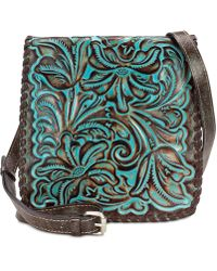 Patricia Nash - Granada Turquoise Tooled Leather Crossbody - Lyst