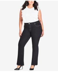 City Chic - Trendy Plus Size Bootcut Jeans - Lyst