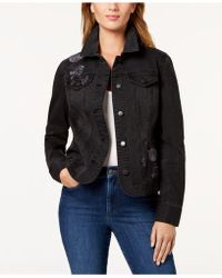 Charter Club - Embroidered Denim Jacket, Created For Macy's - Lyst