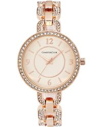 Charter Club - Women's Pavé Rose Gold-tone Bracelet Watch 33mm - Lyst