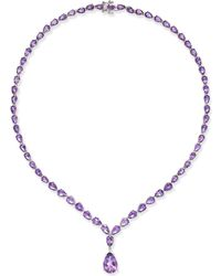 Macy's - Amethyst Statement Necklace (28 Ct. T.w.) In Sterling Silver - Lyst