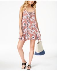 Roxy - Softly Love Printed Dress Cover-up - Lyst