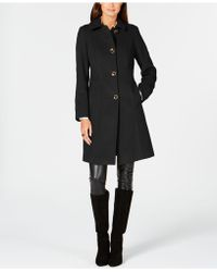 Anne Klein - Single-breasted Club-collar Coat - Lyst