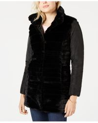 Maison Jules - Reversible Faux-fur Jacket, Created For Macy's - Lyst
