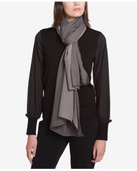 DKNY | Mixed Texture Knit Wrap | Lyst