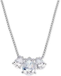 "Danori - Triple-crystal Pendant Necklace, 16"" + 1"" Extender, Created For Macy's - Lyst"