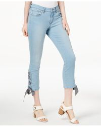 Maison Jules - Laceup Ankle Jeans, Created For Macy's - Lyst