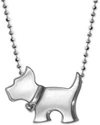 Alex Woo - Scotty Dog Pendant Necklace In Sterling Silver - Lyst