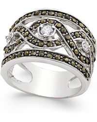 INC International Concepts - Silver-tone Crystal Braided Statement Ring - Lyst