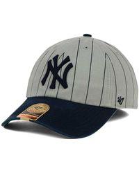 47 Brand - New York Yankees Pinstripe Franchise Cap - Lyst