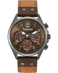 Timberland - Men's Wolcott Brown Leather Strap Watch 44x48mm Tbl14859jsu12 - Lyst