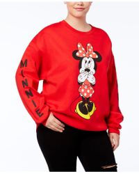 Hybrid - Trendy Plus Size Minnie Mouse Graphic-print Sweatshirt - Lyst