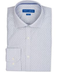 Vince Camuto - Slim-fit Comfort Stretch Patterned Dress Shirt - Lyst
