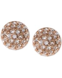 Givenchy - Earrings, Rose Gold-tone Crystal Button Earrings - Lyst