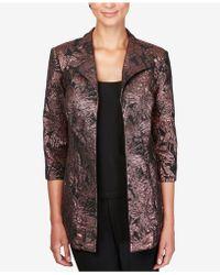 28fbbfffae168 Alex Evenings - Petite Foil-detail Jacket   Solid Top Set - Lyst