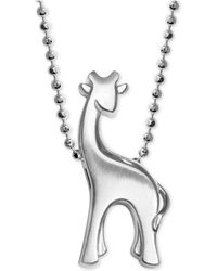 Alex Woo - Giraffe Pendant Necklace In Sterling Silver - Lyst