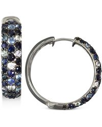 Effy Collection - Multicolor Sapphire Large Hoop Earrings (4 Ct. T.w.) In Sterling Silver - Lyst