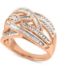 Macy's - Diamond Overlap Crisscross Ring (1/2 Ct. T.w.) - Lyst