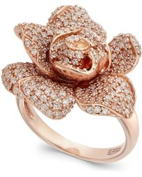Effy Collection - Pave Rose By Effy Diamond Ring In 14k Rose Gold (1-1/8 Ct. T.w.) - Lyst