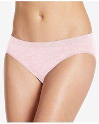 f230389ddd006 Lyst - Jockey Comfies Matte And Shine Bikini 1305 in Pink