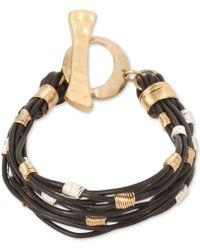 Robert Lee Morris | Soho Two-tone Leather Strand Toggle Bracelet | Lyst