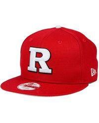 KTZ - Rutgers Scarlet Knights Core 9fifty Snapback Cap - Lyst