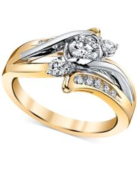 Macy's - Diamond Engagement Ring (5/8 Ct. T.w.) In 14k Gold And White Gold - Lyst