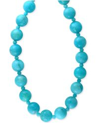 Effy Collection - Amazonite (12 And 4mm) Bead Statement Necklace In 14k Gold - Lyst