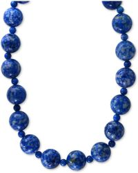 Effy Collection - Lapis (4 & 12mm) Beaded Collar Necklace In 14k Gold - Lyst