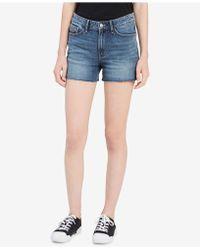 Calvin Klein Jeans - Cutoff Denim Shorts - Lyst