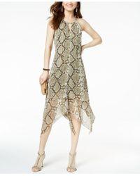 INC International Concepts - I.n.c. Snake-print Keyhole Dress, Created For Macy's - Lyst