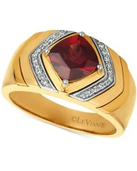 Le Vian - Men's Pomegranate Garnettm (2-1/2 Ct. T.w.) & Diamond (1/8 Ct. T.w.) Ring In 14k Gold - Lyst