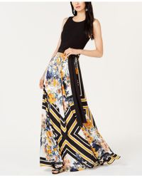 INC International Concepts - I.n.c. Petite Tie-waist Printed-skirt Dress, Created For Macy's - Lyst