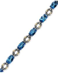 Effy Collection - Blue Topaz Bracelet In Sterling Silver And 18k Gold (21-1/3 Ct. T.w.) - Lyst