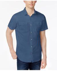 Calvin Klein - Men's Snap-front Dual-pocket Cotton Shirt - Lyst