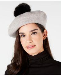 Steve Madden - Wool & Faux Fur Beret - Lyst