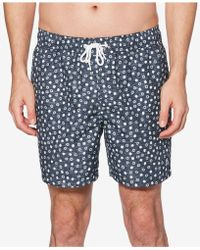"Original Penguin - Snowflake-print 6"" Swim Shorts - Lyst"