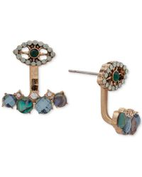 Lonna & Lilly - Gold-tone Multi-stone Evil Eye Jacket Earrings - Lyst