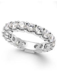 Macy's - Diamond Prong Eternity Ring In 14k White Gold (3 Ct. T.w.) - Lyst