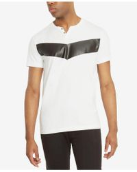 Kenneth Cole Reaction - Men's Rolled-cuff T-shirt - Lyst