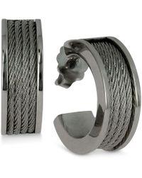 Charriol - Women's Forever Stainless Steel Cable Hoop Earrings - Lyst