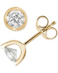 Macy's - Diamond Tension Stud Earrings (1/2 Ct. T.w.) In 14k White, Yellow Or Rose Gold - Lyst