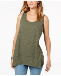 2a27cb3f57d00 Lyst - Style   Co. Plus Size Graphic Tank Top