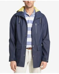 Izod - Men's Hooded Wind Slicker - Lyst