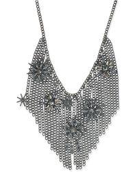 INC International Concepts | Hematite-tone Crystal Starburst Fringe Statement Necklace | Lyst