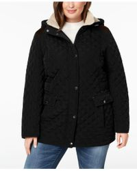 Laundry by Shelli Segal - Plus Size Fleece-lined Quilted Coat - Lyst