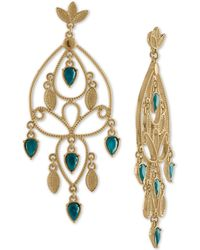RACHEL Rachel Roy - Gold-tone Colored Stone Chandelier Earrings - Lyst
