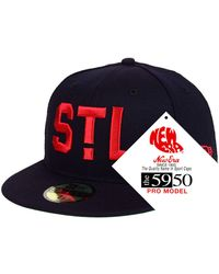separation shoes 3cbee bcd97 KTZ St. Louis Cardinals Pop Color 59fifty Fitted Cap in Blue for Men - Lyst