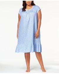 Eileen West - Waltz Plus Size Venise-lace Knit Nightgown - Lyst