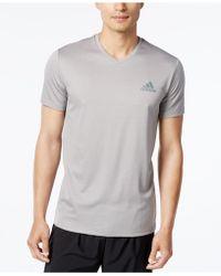adidas - Men's V-neck Climalite T-shirt - Lyst